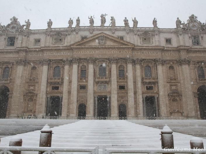 Rome, la neige
